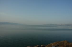 Le lac de Tibériade ou mer de Galilée, principale ressource d'Israël en eau jusqu'en 2002